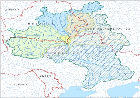 Prut river europe map proposed river basins were the